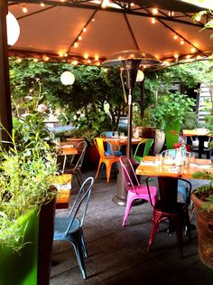 """Marjorie's sweet patio feels like a good friend's well appointed backyard, with a lush canopy of plants and twinkle lights."" Outdoor Dining Restaurants in Seattle: 18 Great Spots - Eater Seattle"