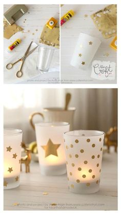 Top Christmas Ideas! How To Make Votive Candle Holders - Learn how to make gold christmas candle votives with a few simple materials and steps. It's an easy DIY project that will take no time at all! Who doesn't love a quick home decor idea?!