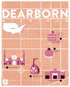 Dearborn, Michigan illustration by Simone Massoni