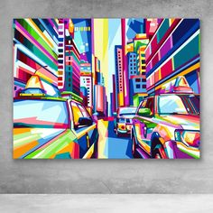 """Beautiful """"City in Style WPAP Pop Art"""" metal poster created by Rizky Dwi. Our Displate metal prints will make your walls awesome. Tableau Pop Art, Posca Art, City Painting, Painting Canvas, Painting Abstract, Abstract City, Pop Art Posters, Acrylic Wall Art, Clear Acrylic"""