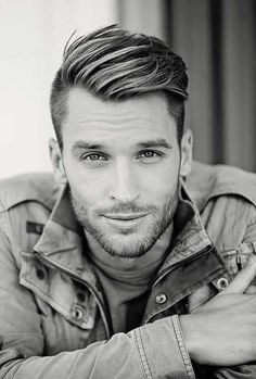 These are the very best beard styles include short groomed beards and also complete bushy ones. Take a look at these images of beard styles for men who are looking for some motivation on exactly how to shape their facial hair. Side Part Hairstyles, Undercut Hairstyles, Boy Hairstyles, Trendy Hairstyles, Men Undercut, Hairstyle Ideas, Mens Widows Peak Hairstyles, Undercut Styles, Pompadour Hairstyle