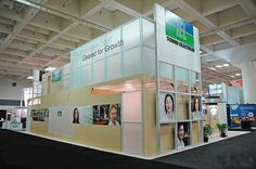 Double Deck or two story booth designed and fabricated by Blazer Exhibits & Events for Semicon West.