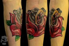 #bear#rose#oldschool#my arm#tattoo#hami#tattoo face
