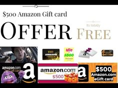 $500 Amazon Gift card offer