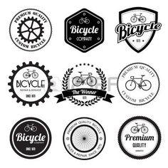 Conjunto de bicicleta retro emblemas vintage e labels eps10 Banco de Imagens