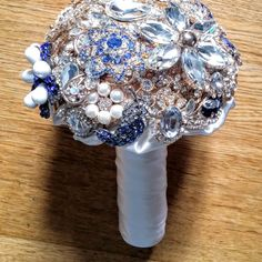 Great retro sparkle romantic gold blue by AnderwaldBouquets