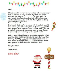 personalized letter from santa 3 options to choose from by elemeno p kids