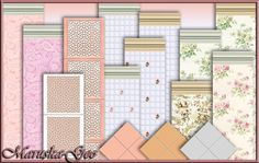 """Wallpaper and floor tiles for """"Shabby chic"""" kitchen at Maruska-Geo"""