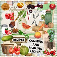 Digital Scrapbook Kit - COOKBOOK & RECIPE KIT plus wordart - over 400 items