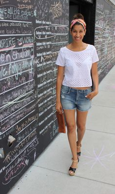 I finally found my perfect jean shorts and here is how I accessorized them for a weekend at home!