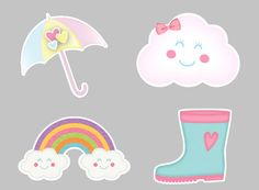 Cloud Party, 2nd Baby Showers, Sunshine Birthday, Kawaii Doodles, Baby Shawer, Baby Decor, Cute Stickers, Cute Wallpapers, Hello Kitty
