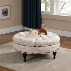 Interesting Tufted Ottoman Coffee Table