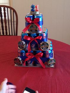 Pretty sure this is the best beer can cake ever! Soda Can Cakes, Beer Can Cakes, Father Birthday, 50th Birthday Party, Birthday Cakes, Birthday Ideas, Birthday Gifts For Boyfriend Diy, Boyfriend Gifts, Cake In A Can