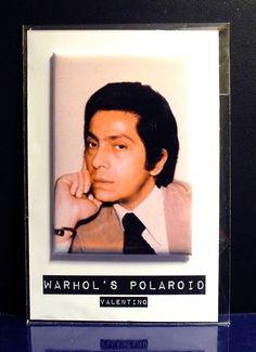 CALAMITA MAGNETE VALENTINO POLAROID BY ANDY WARHOL
