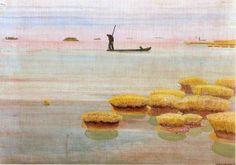 Guido Cadorin (1892-1976) Italian Artist Pesca con la fiocina GUIDO CADORIN (Venezia, 6 giugno 1892 – Venezia, 18 agosto 1976) #TuscanyAgriturismoGiratola