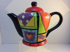 Collectible Naylor Designs Hand painted Tea Pot © 2005