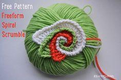 Freeform Crochet Spiral Scrumble