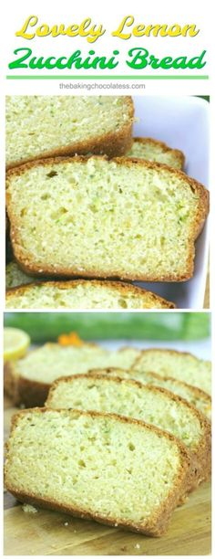 Lovely Lemon Zucchini Bread - This tender Lovely Lemon Zucchini Bread is great for breakfast or snacking with the family or make a loaf for someone you love, just because! via @https://www.pinterest.com/BaknChocolaTess/