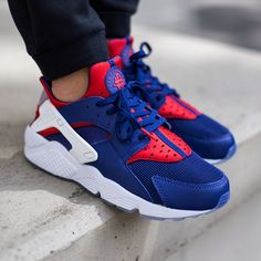 "Nike Air Huarache Run Premium LONDON ""Deep Royal Blue/University Red""  RELEASE Thursday, 14th May 2015"