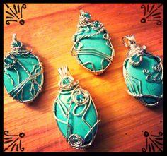 Turquoise pendants