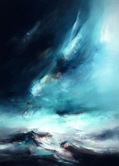 Northern Lights III by Chris and Steve Rocks, Limited Edition Boxed Giclée Canvas Print at Collectors Prints Abstract Landscape Painting, Landscape Art, Landscape Paintings, Abstract Art, Abstract Paintings, Picasso Paintings, Art Corner, Light Painting, Abstract