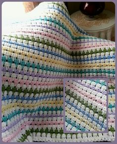Larksfoot Crochet Baby Blanket Pattern : 1000+ images about Larksfoot stitch on Pinterest ...