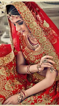 Buy Red Lehenga Choli is Wedding,Party wear. This Satin Lehenga,Silk Choli and Net Dupatta has work. Red Lehenga, Bridal Lehenga Choli, Party Wear, Sari, How To Wear, Fashion, Scarlet, Colors, Clothes