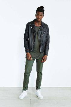 Schott X UO Beatdown Perfecto Leather Jacket