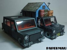 The Black Limo Paper Model - by Papermau - Download Now! - == -  Here is the Limo paper model, black version, ready for download! The Limo is a little Limousine/Diplomatic Car, with interior.