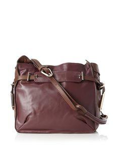 Kooba Flynn Shoulder #Bag:  Colorblocked look in soft, supple #leather with belted top; 1 zip and 2 slip interior pockets; slightly adjus...