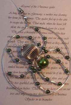 The legend of the Christmas spider (green pearl) - The Supermums Craft Fair