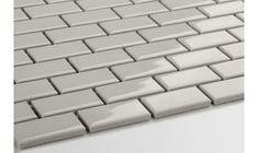 Mini cegiełka jasno szara, szkliwiona - płytki ceramiczne/mozaika| sklep RawDecor.pl