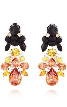 Rudbeckia Hirta Marmalade Earrings by Ek Thongprasert for Preorder on Moda Operandi