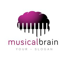Logo for music production labels, music stores, and AI based consumer businesses License Type: Exclusive, sold only once. Music Logo Inspiration, Graphic Design Inspiration, Unique Poster, Unique Logo, Music And The Brain, Brain Logo, Tree Logos, Home Logo, Business Card Logo