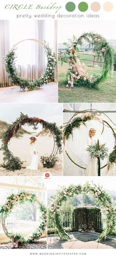 58 Gorgeous Ideas to Set Up a Wedding Backdrop circle backdrop, wedding arch, floral and greenery wedding decorations, s Ceremony Backdrop, Backdrop Wedding, Wedding Arches, Wedding Venue Inspiration, Wedding Ideas, Wedding Blog, Elegant Wedding Themes, Summer Wedding Decorations, Bouquet