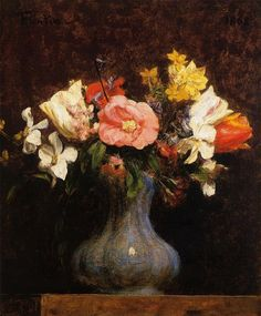 Henri Fantin-Latour Flowers Camelias and Tulips oil painting for sale; Select your favorite Henri Fantin-Latour Flowers Camelias and Tulips painting on canvas and frame at discount price. Henri Fantin Latour, James Abbott Mcneill Whistler, Tulip Painting, Portrait Paintings, Oil Paintings, Oil Painting Reproductions, Still Life Art, Matisse, Oeuvre D'art