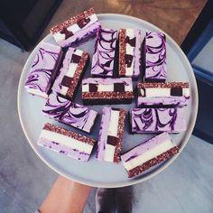Blueberry swirl with Ganache chunks - pana_chocolate @pana_chocolate