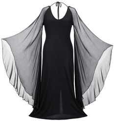 Morticia Maxi - HolyClothing Gothic Gowns, Gothic Outfits, Black Gown With Sleeves, Diy Vestidos, All Black Dresses, Sleeves Designs For Dresses, Alternative Outfits, Dress Form, Gothic Fashion