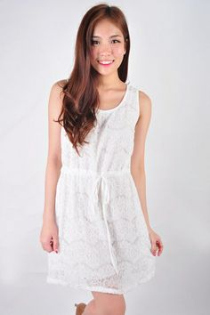Everdeen Lace Dress - White | Earl Grey Party