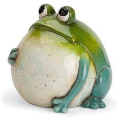 Wind & Weather Big Belly Ceramic Frog Statue