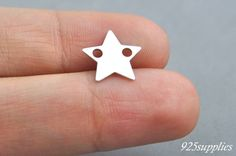 925 Sterling Silver Star Charm, Star Pendant, Silver Star, Little Star, Tiny Star, Sliver Charm, Jewelry making, Craft Tools, Silver Pendant