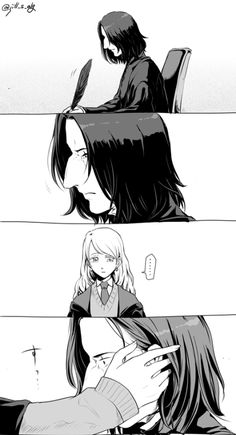 Luna and Snape...I don't understand a word... I wrote a fic similar to this. I can definitely see them as friends, Luna seeing this person, this teacher as someone who needs a friend, in her special Luna way. Snape hating it a first, having her following him around, talking to him and things, but secretly loving it. :)