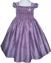 Sarai light purple girls silk dress smocked and embroidered – Carousel Wear