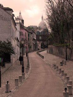Et oui, c'est vraiment comme ça dans cette rue de Montmartre, très peu de voitures, le silence et les oiseaux - Yes, that's exactly the way it really is in this Montmartre street, very few cars, silence and little birds.