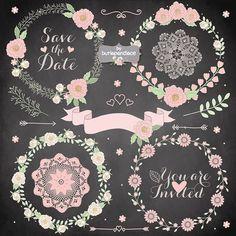 Peonies Wedding Floral Wreath by burlapandlace on Creative Market