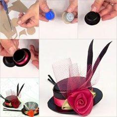 Fabriquer un mini chapeau décoratif