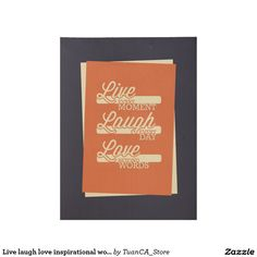 Live laugh love inspirational wood poster