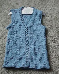 Ravelry: More Very Stylish Vests - Vest #2 pattern by Carol May