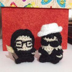 Tomie Ohtake e Yoko Ono da tia @reginabram  #tomieohtake #yokoono #musasdatiare #inspiration #crochet #craft #amigurumi #handmade #artesanato #pontopipoca by pontopipoca