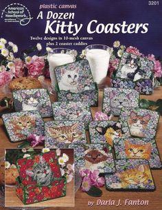 Una docena Kitty posavasos, lona plástica de decoración para el hogar folleto…